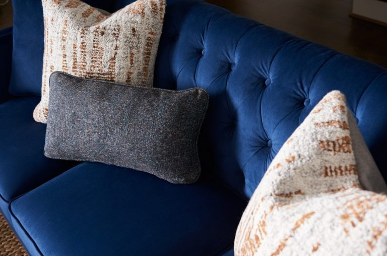 Beautiful blue couch