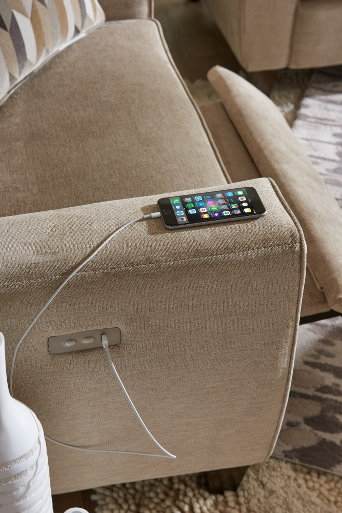 Recliner with USB charger