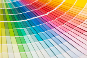 Colour swatches book. Rainbow sample colors catalogue